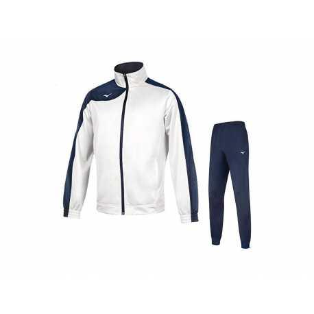 Teamová tepláková souprava Mizuno Knitted white/navy