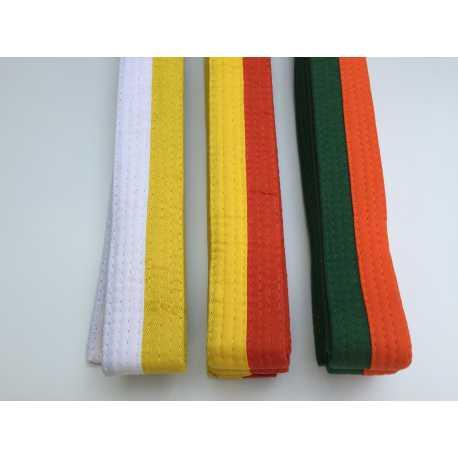 Pásek ke kimonu Judo dvoubarevný půlený