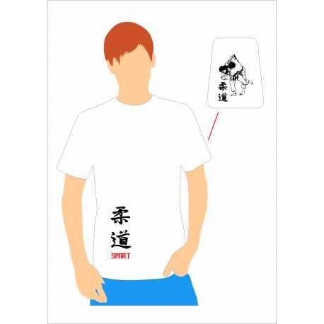 Tričko Judo Kanji Judosport Team Unisex, dětské bílé