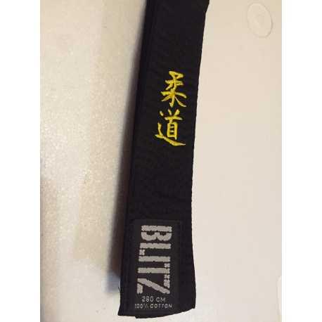 Černý vyšívaný pásek Blitz