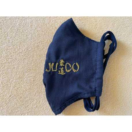 Rouška s nápisem Judo černá