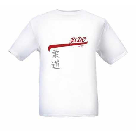 Tričko Judo Kanji bílé